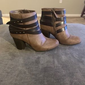 Madden Girl Tan Brown Bootie Boots